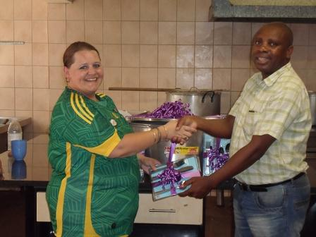 Hollywoodbets Hillbrow handing over the donations to Twilight Children Home as part of Social Responsibility Programme