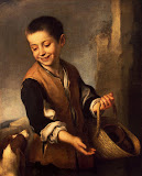 Boy with a Dog by Bartolome Esteban Murillo - Genre Paintings from Hermitage Museum