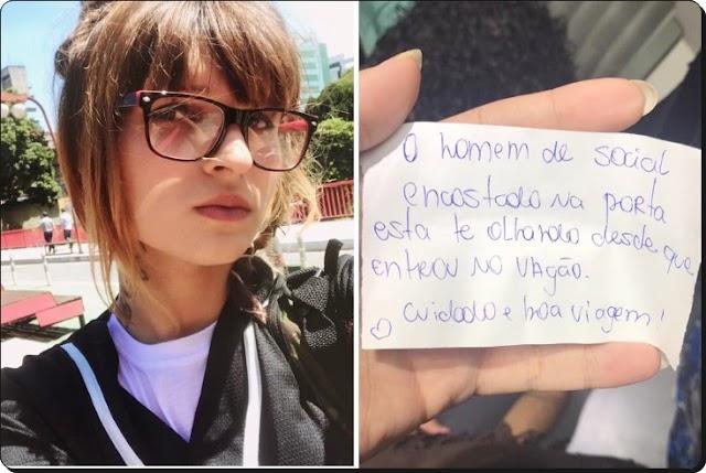 SÃO PAULO: JOVEM DIZ TER EVITADO ASSÉDIO EM TREM DA CPTM AO RECEBER BILHETE