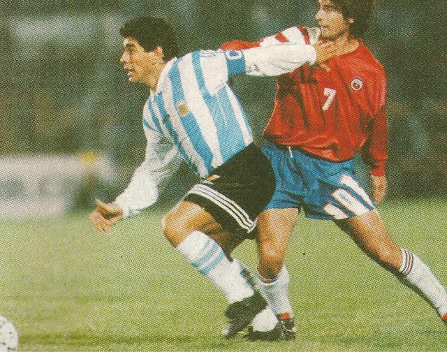 Chile y Argentina en partido amistoso, 18 de mayo de 1994