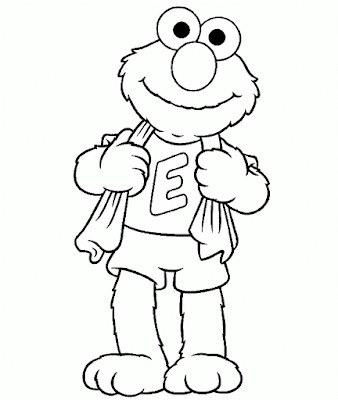 Gambar Mewarnai Elmo - 18