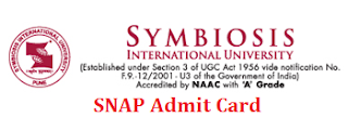SNAP Admit Card 2014 - snaptest.org - Symbiosis Test Hall Ticket