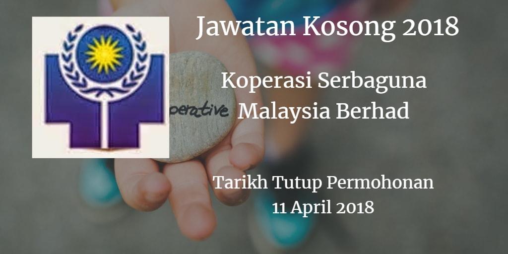 Jawatan Kosong Koperasi Serbaguna Malaysia Berhad 11 April 2018