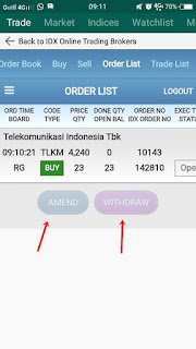 menu amend dan withdraw
