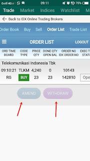 menu amend dan withdraw