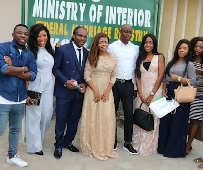 Ogbonna Kanu And Laura Ikeji's Court Marriage Photos