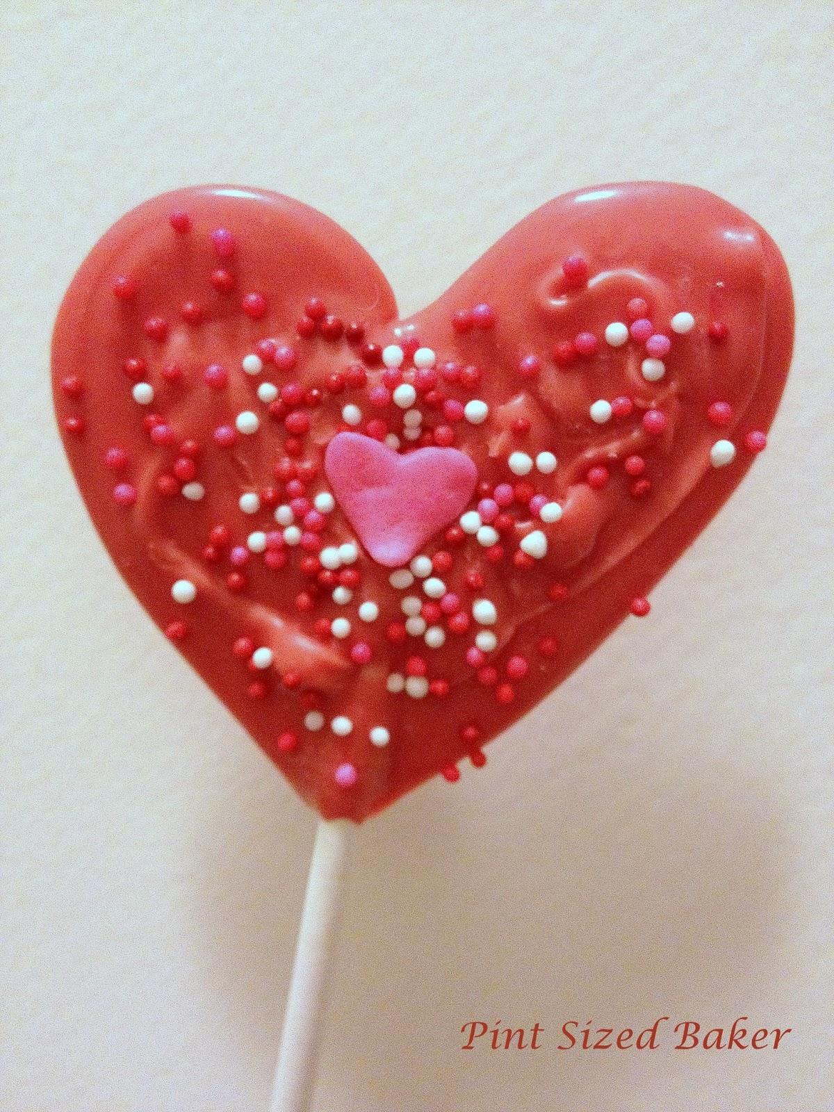 Valentines Heart Lollipops - Pint Sized Baker