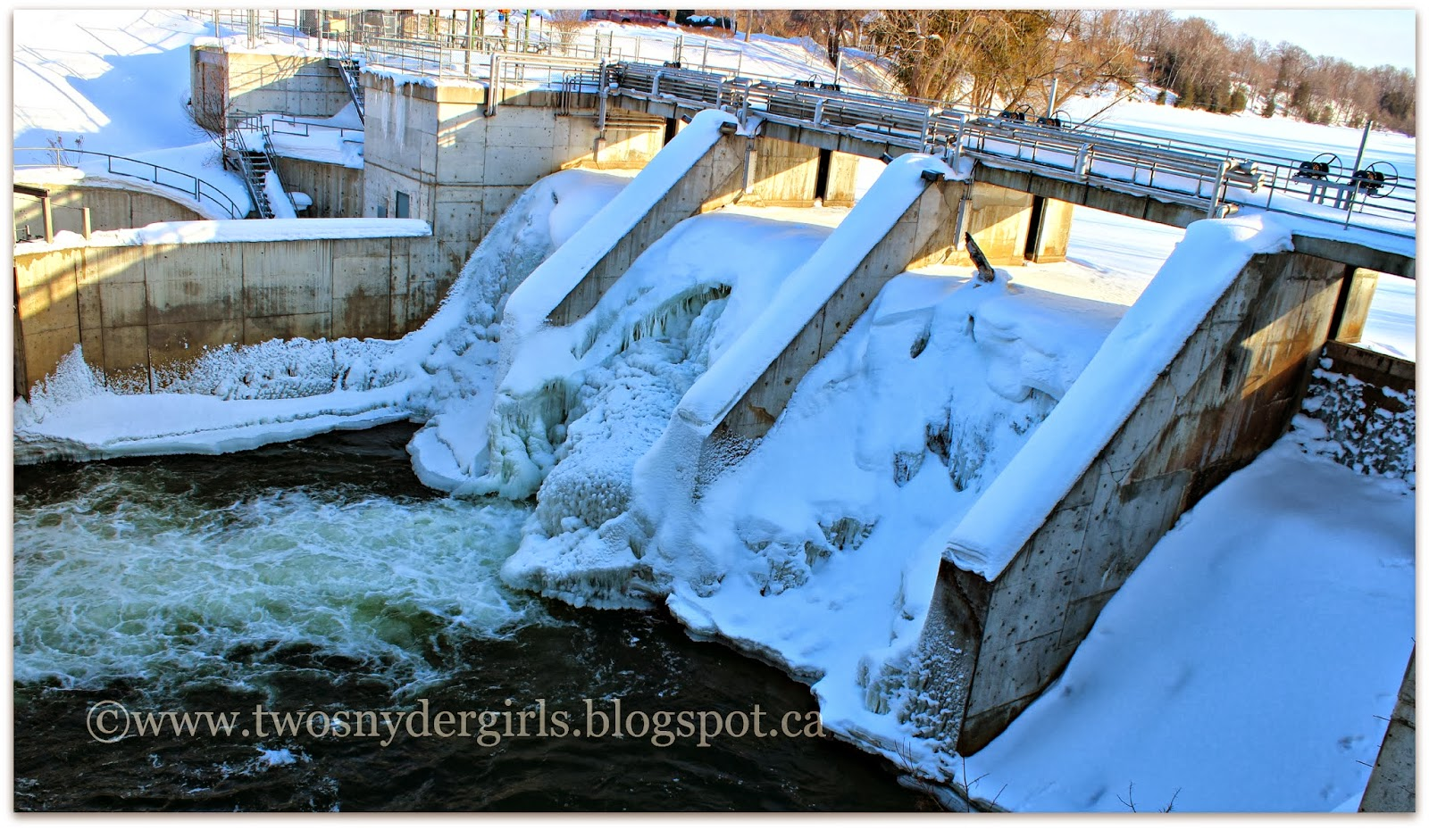 The fish ladder in Thornbury Ontario