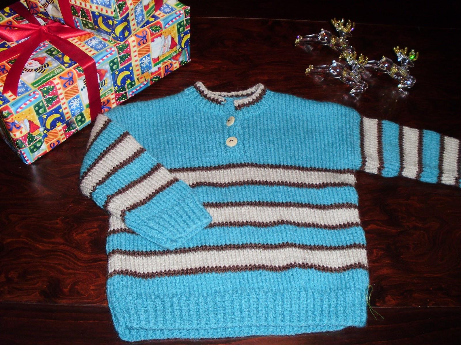 3aa3ed04d07 Χειροποίητο μάλλινο παιδικό πλεκτό πουλόβερ σε ριγέ σχέδιο για αγοράκια