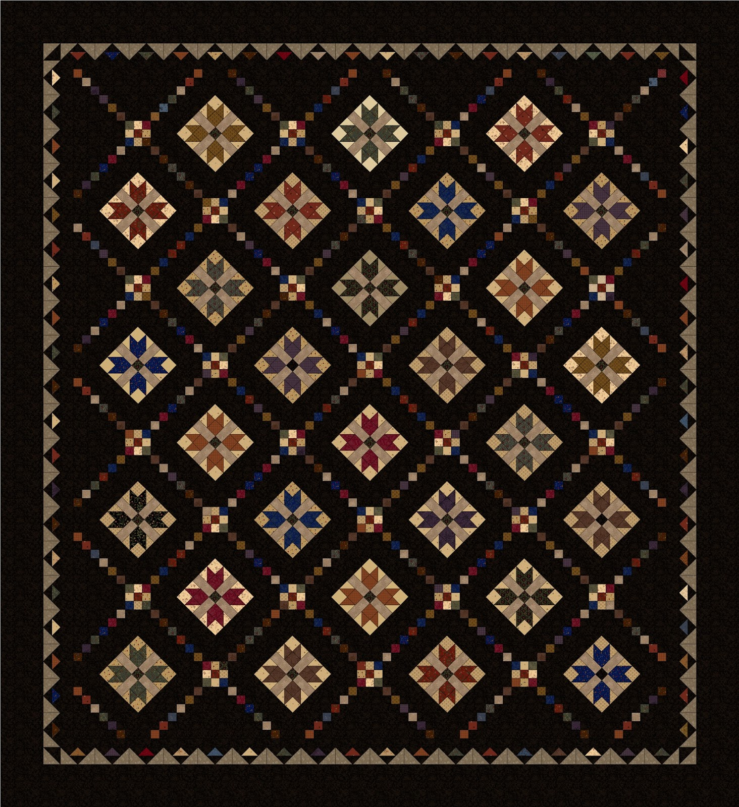 Heartspun quilts pam buda april 2018 if youve been thinking about making my primitive threads quilt for yourself you still have until tomorrow morning to pre order the quilt kit and get the solutioingenieria Gallery