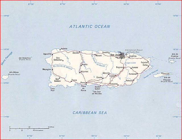 Gambar Peta politik Puerto Rico