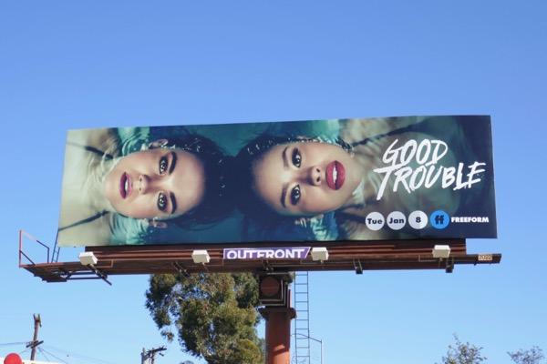 Good Trouble series premiere billboard