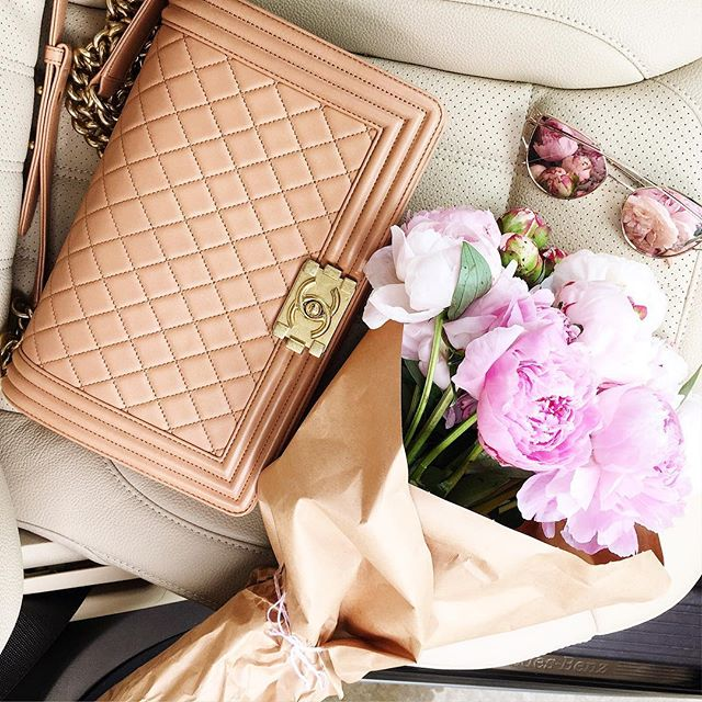 chanel boy bag large tan or camel, peonies tulsa ok, pretty peonies photo, gentle monster love punch rose gold sunglasses, emily gemma instagram, emily gemma blog