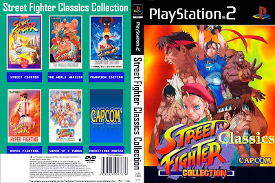 Jogo Street Fighter Classics Collection PS2 DVD Capa