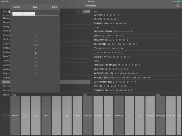 MATRIXSYNTH: ScaleBud - AUv3 MIDI Keyboard for iOS
