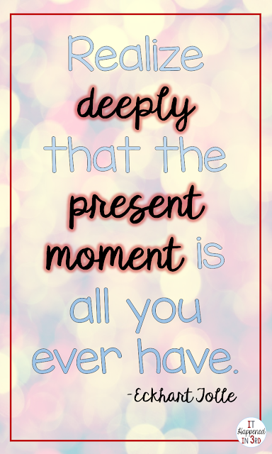 Being present in the moment is one of my goals for 2017! Read to find out other reasons why present is my #onelittleword