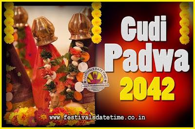 2042 Gudi Padwa Pooja Date & Time, 2042 Gudi Padwa Calendar