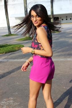short cintura alta, memove, borboletas, girlie, look do dia, estilo pessoal, blog de moda, tendência, ray-ban