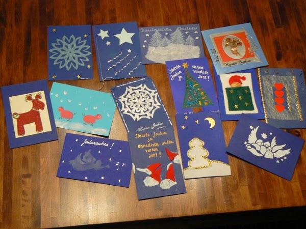 Käsintehdyt Joulukortit