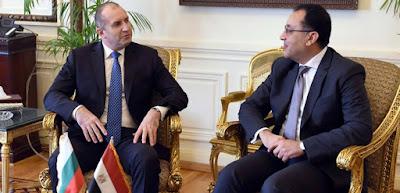 اجتماع الرئيس البلغارى لتشييد 14 مدينة جديدة بمصر