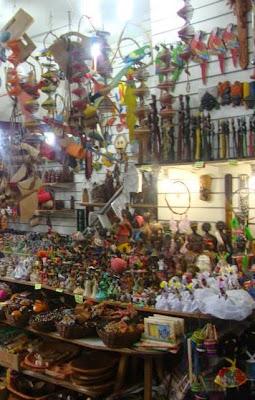 Objetos de feira de artesanato
