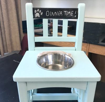 High School Student's Repurposed dog feeder project