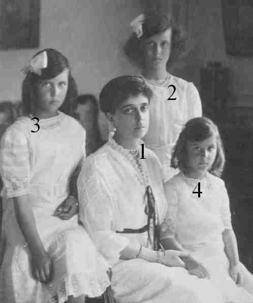 Princess Nicholas of Greece and Denmark and daughters