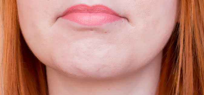 MeMeMe Cosmetics Lip Glide Velvet Finish Lip Colour swatch Playful Peach