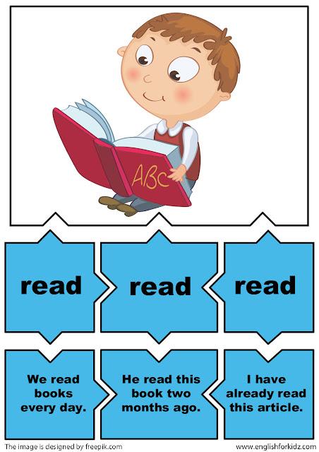 irregular verbs grammar game verb read