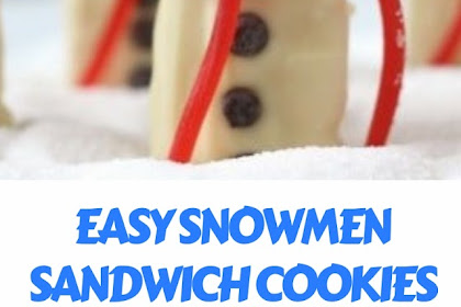 EASY SNOWMEN SANDWICH COOKIES #christmas #cookies