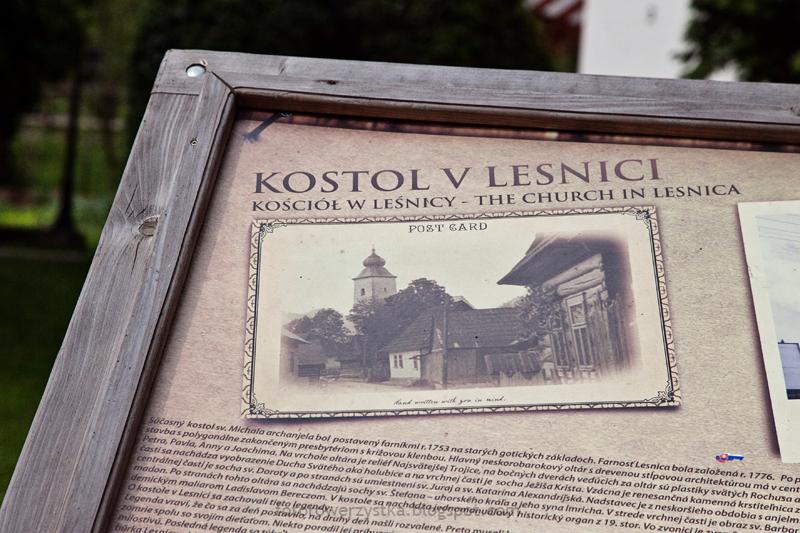 Pieniński Park Narodowy, Leśnica, Słowacja, kościół