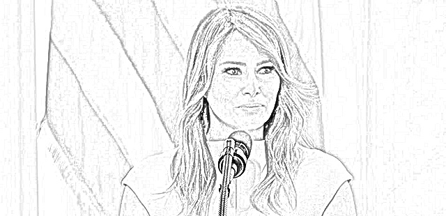 Melania Trump coloring pages coloring.filminspector.com