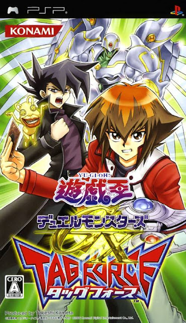 capa do jogo para psp yugioh duel monsters gx tag force