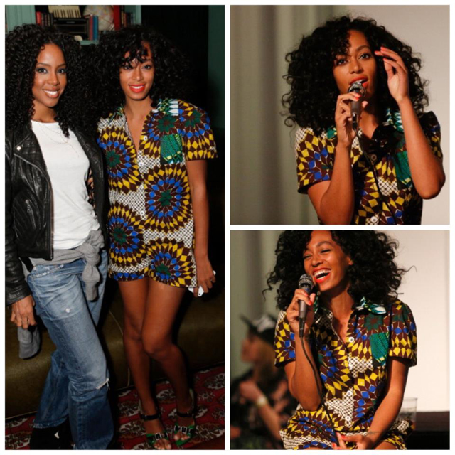 "The beautiful  Singer/Model Solange Knowles  was spotted  in  Boxing Kitten Spring 2013 Romper at  the ""True"" Album Party at the Sonos Studio in LA.  You can see the full collection here . What do you say ? love  it"