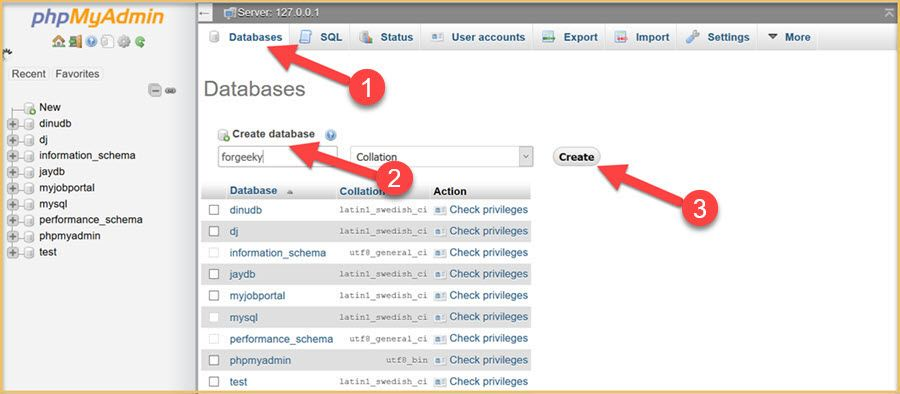 create-databse-for-wordpress-on-mysql