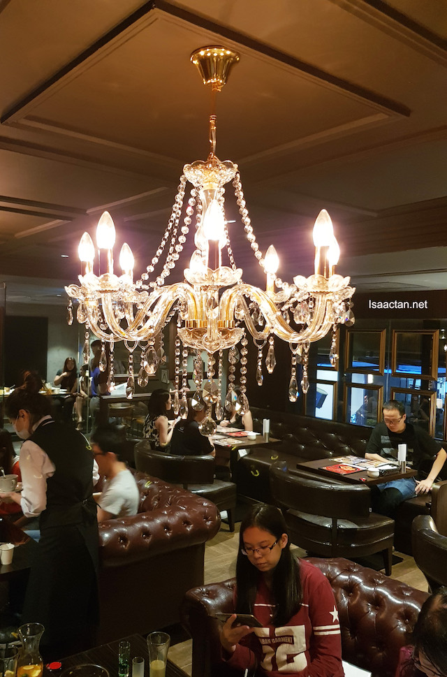 Lovely hanging chandeliers