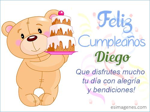 Feliz cumpleaños Diego - Imágenes Tarjetas Postales con