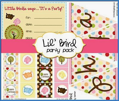 Little Bird Free Printable Party Pack.