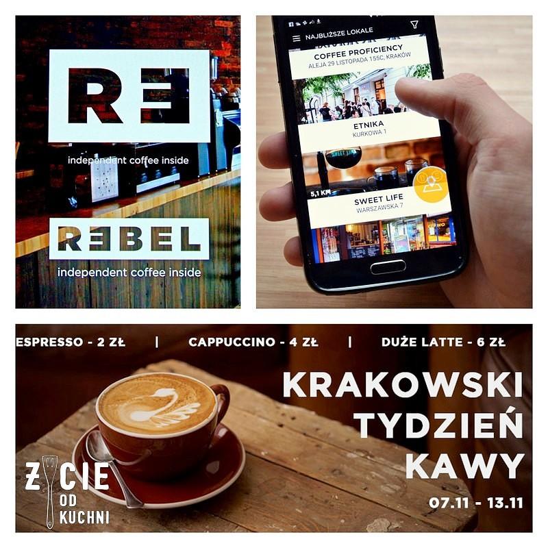 rebel, projekt rebel, kawa, dobra kawa, gdzie na kawe w krakowie, aplikacja rebel, krakowski tydzien kawy, zycie od kuchni