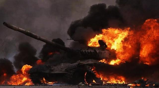 Subhanallah, Usai Sholat 2 Rokaat, Batu Dilempar Tank Rusia Langsung Terbakar