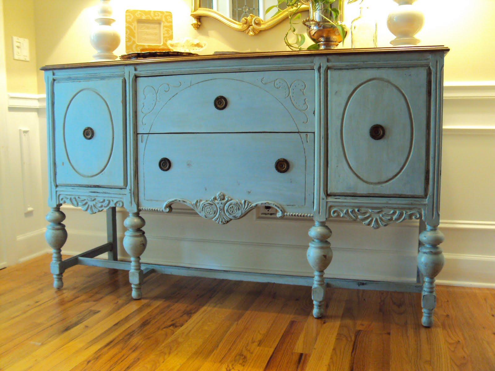 Light Of The Home My Louis Blue Chalk Paint Buffet