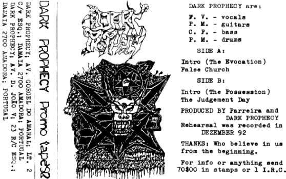 Portugal 80s Metal: DARK PROPHECY