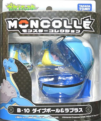 Lapras figure & Dive Ball Takara Tomy Monster Collection MONCOLLE Ball set series