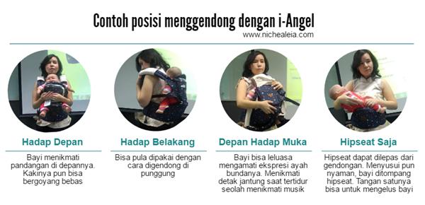 posisi menggendong nyaman i-angel