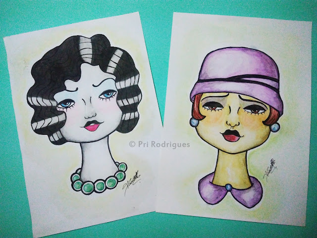[Artwork] Aquarelas e Flappers