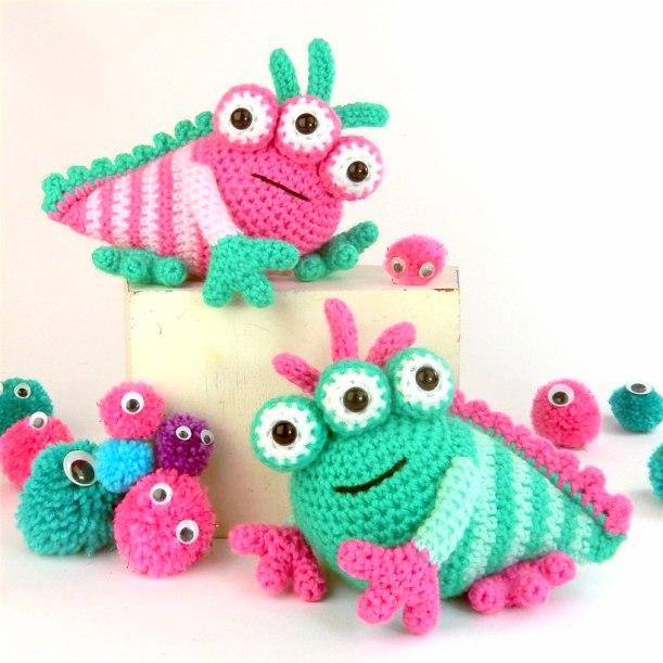 Amigurumi monsters: haak de schattigste monsters: Amazon.de: Joke ... | 611x611