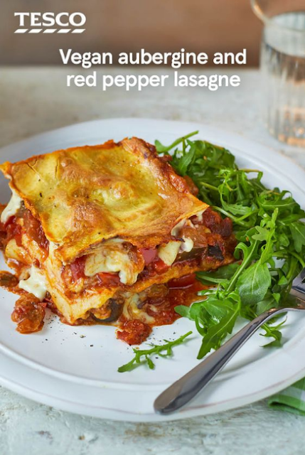 Vegan aubergine and red pepper lasagne recipe