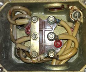 распределительная коробка трехфазного двигателя