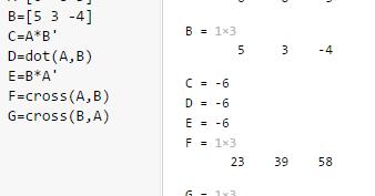Matlab-筆記3-矩陣運算