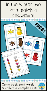 Get your free snowman themed open ended game set at Looks Like Language!